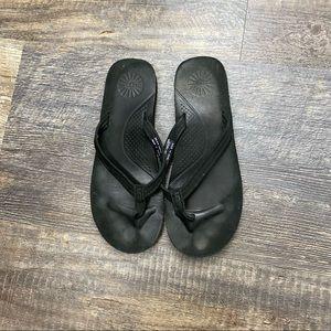 UGG Black Flip Flops Size 6